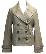 Coach 84825 Womenand039s 100 Leather Mini Peacoat Double Breasted Jacket Fawn Tan
