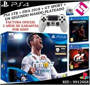 Console Sony Ps4 Playstation 4 1tb Slim Fifa 2018 Uncharted Gt Sport Command