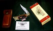 Camillus 11 Lockback Knife And Sheath W/eagle Sfo Advertising W/packaging,papers