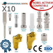 10 Angulated Multi Unit 30° Abutment Np For Nobel Biocare Active Hex Kit