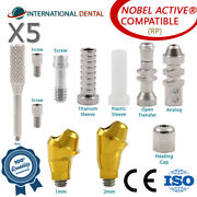 5 Angulated Multi Unit 30° Abutment Rp For Nobel Biocare Active Hex Kit