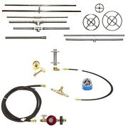 Create Your Own Gas Fire Pit/ Fire Table Deluxe Kit - Lifetime Ss Burner And Pan