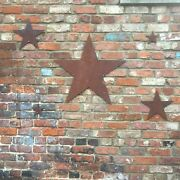 5 Rusted Stars Industrial Sign Metal Garden Decoration Ornament Feature