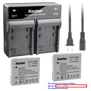 Kastar Battery Rapid Charger For Canon Nb-4l Nb4lh And Canon Powershot Sd600 Sd630