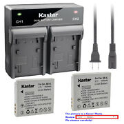 Kastar Battery Rapid Charger For Canon Nb-4l Nb-4lh And Digital Ixus 110 Is Camera
