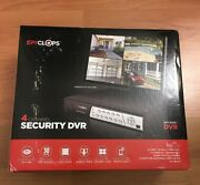 Spyclops Dvr4 4-channel Security Audio Digital Video Recorder Dvr With 500gb