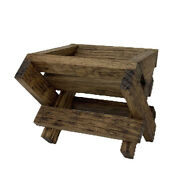 Baby Manger Wood -compatible With Willow Tree Angel Nativity Not Included