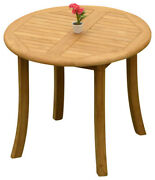 Dscr A-grade Teak 3pc Dining Set 36 Round Table 2 Armless Chair Outdoor