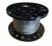1/4 Stainless Steel Aircraft Cable Wire Rope 7x19 Type 316 2500 Feet