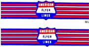 Handcar W/wings For American Flyer Adhesive Sticker S Gauge Scale Trains Parts
