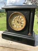 Antique Stunning Sessions Mantle Clock 8 Day 1/2 Strike Cathedral Gong