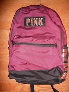 Victorias Secret Pink Bling New Campus Large Backpack Zip Book Laptop Nwt