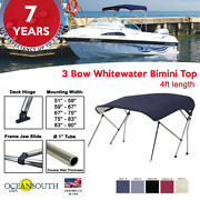 Whitewater Bimini Top 3 Bow Boat Cover With Rear Poles And Integrated Cover