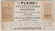Rare Advertising Real Photo Trade Card - Loomis Architects Rochester Ny 1880