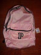 Victorias Secret Pink Floral P New Campus Large Backpack Zip Book Laptop Nwt