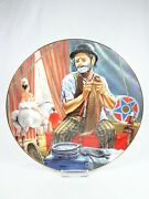 Vintage Porcelain Plate Clowns Of Circus World Museum Otto Griebling 4th Edition