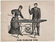 Rare - Early American Billiards Pool Advertising Flyer - Ca 1860s Akam Table