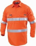 Workhorse High Visibility Work Shirt Msh020 Closed Front Orange- 2xl 3xl Or 4xl