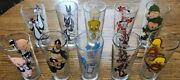 Pepsi Collector Series Glasses 1973-brockway Glass-black Letters Lot Of 10