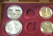 1992 Olympic Silver Dollar And Half Dollar Set Both Unc And Proof 4 Coins