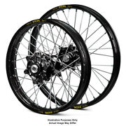 17 Front 17 Rear Black Supermoto Wheels Fit Honda Africa Twin Crf1000-l 2015
