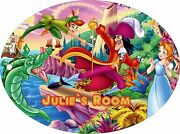 Personalised Peter Pan Large 190mm X 140mm Oval Door Plaque And Fixings
