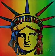 Liberty Head Retro Suite I Limited Edition Silkscreen Peter Max - Signed