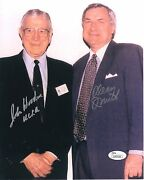 Dean Smith+john Wooden Hand Signed 8x10 Photo  Signed By Both Legends Jsa
