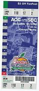 2002 Chick Fil A Peach Bowl Game Full Unused Ticket Maryland Tennessee
