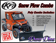 Kfi 72 Poly Snow Plow Blade Mount Combo Kit Can-am Defender Hd5 Hd8 Hd10 16-18