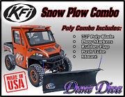 Kfi 72 Poly Snow Plow Blade Mount Combo Kit Can-am Maverick Trail And Sport