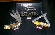Case Xx 5354 Knife Robeson Shuredge 622751 Sfoand039s 1995 Ibca W/roll Out Pouch Rare