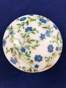 Limoges France - Round Trinket Box - Hand Painted - Antique
