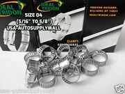 150 X Ideal-tridon Hose Clamps,abrazaderas Size 04 08to16mm Made In Usa 5202