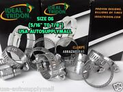500 Pcs Hose Clamps Size 6 Abrazaderas 08 Toandnbsp22mm Ideal Tridon Made In Usa