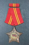 North Vietnam Order Of The Soldier Of Glory, 2nd Class, Silver With Original Box