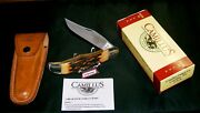 Camillus 6 Knife And Sheath Folding Hunter 1980 Stag Appearance W/packaging Rare