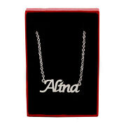 Alina Name Necklace Silver Tone | Christmas Jewellery Gifts For Her
