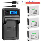 Kastar Lcd Usb Charger Battery For Canon Nb-8l Cb-2la Canon Powershot A3200 Is