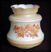 Round Floral Light Shade Replacement For Gwtw Hurricane Lamp May Be Quoizel