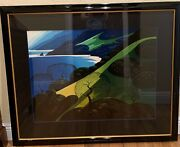 """Eyvind Earle """"above The Sea"""" Serigraph"""