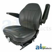 His360 Universal High Back Industrial Seat W/ Suspension Slide Track And Armrests