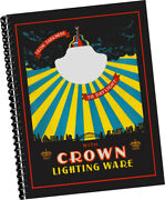 Crown Crystal Glass Co 1928 Lighting Catalogue Antique Lamps Chandeliers Samples