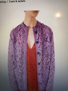 Floral Lace Jacket Nwt It42 Size Us8