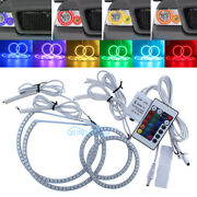 Rgb 7-color Led Smd Headlight Angel Eye Halo Ring Light For Ford F-150 2004-2008