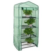 4 Tier Greenhouse W/ Cover Hot Green House Grow Seeds And Seedlings Waterproof