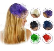 Spring Racing Party Race Fascinator Hatinator Cocktail Mini High Top Hat Clip