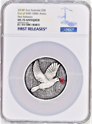 2018 End Of Wwi 100th Anniversary 5oz Silver Coin Ngc Ms70 Australia Antiqued 8