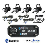 Rugged Radios Rrp696 4 Place Offroad Intercom Kit Cables Headsets Push To Talks