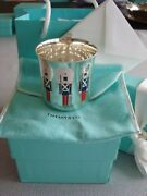 Sterling Silver Enamel Baby Child Cup And039toy Soldiersand039 Rareandfabulous